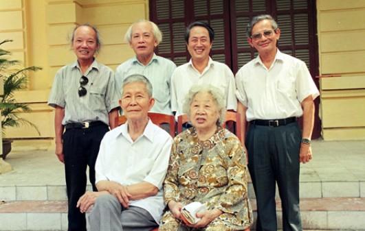 Tứ trụ Lâm-Lê-Tấn-Vượng và vợ chồng GS.Trần Văn Giàu