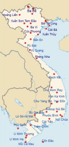 Vuon Quoc Gia Viet Nam 33 di san